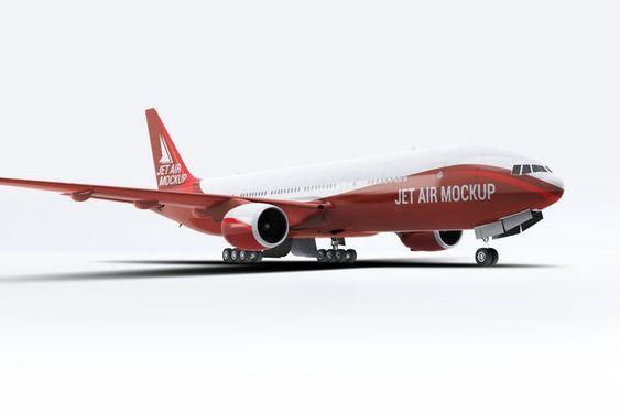 Jet Airplane Mock Up By L5design On Envato Elements Mockup Psd Mockup Psd Mockup Template