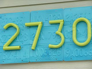 License Plate address sign (HoH71)