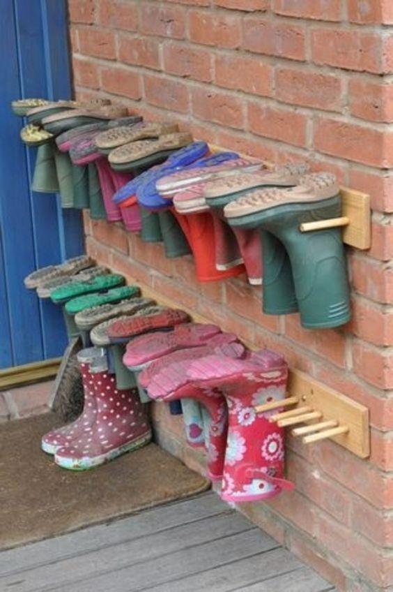 regale selber bauen - schuhe aufbewahren - Selbermachen – 35 coole Schuhaufbewahrung Ideen                                                                                                                                                     Mehr