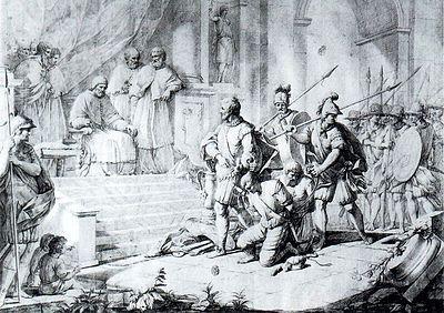 parece una flota francesa con 2.000 hombres de refuerzo, pero decide no enfrentarse a Requesens y desembarca a su gente en Liorna. Montpensier se ve obligado a retirarse hacia Salerno, y Nápoles cae en poder de los españoles.