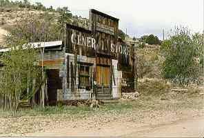 Mogollon, New Mexico ghost town. This town originated during the 1890's as a mining camp.