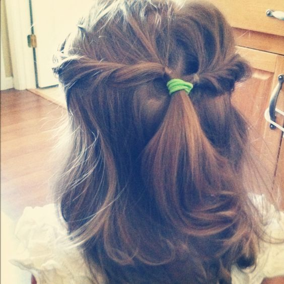 if my child would ever let me do her hair,this is cute