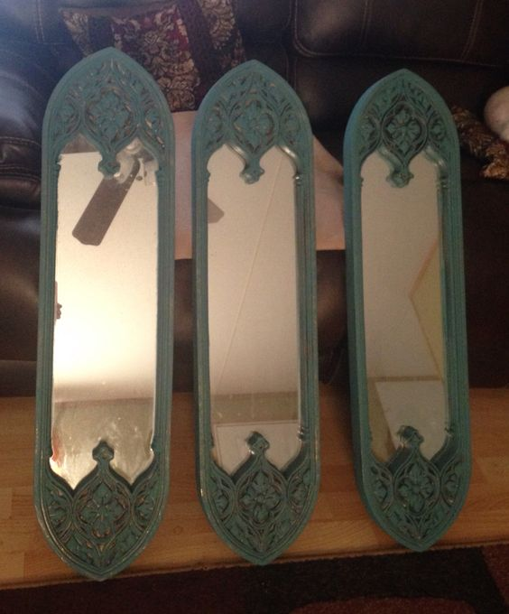 Upcycled mirrors by Cat The Upcycled Diva
