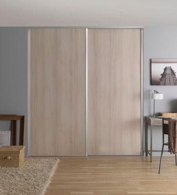 porte coulissante gris effet bois form