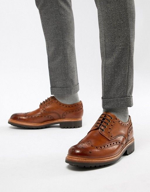 sports shoes 27006 aa352 Grenson Archie chunky brogue shoes in tan | To Buy in 2019 ...