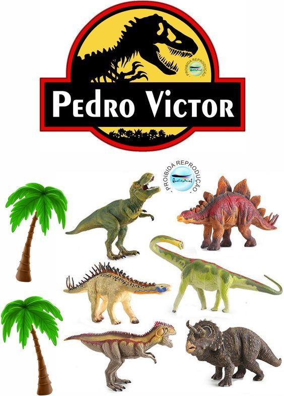 Topo De Bolo Dinossauro Para Editar E Imprimir Gratis Mimo Kids
