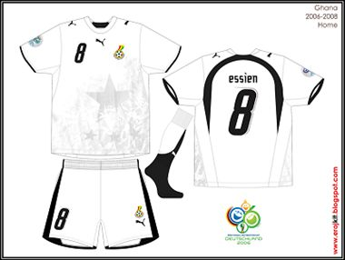 Ghana - Home Jersey 2006