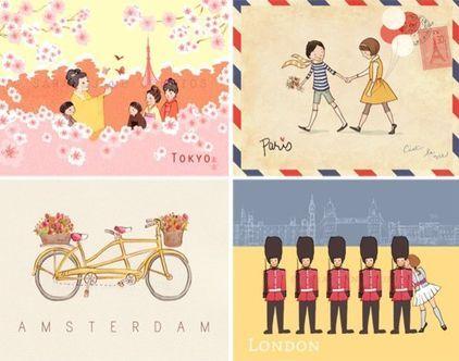 Children's Wall Art Prints, Children Around the World by Sarah Jane Studios - $80.00»