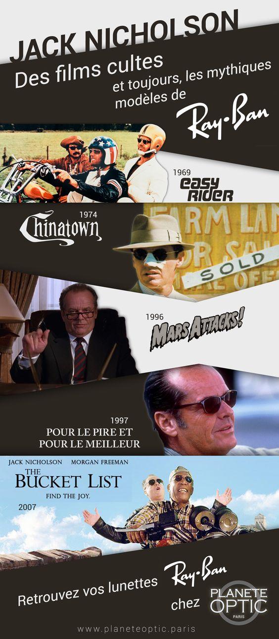 Jack #Nicholson et les mythiques #lunettes #Rayban  #rétrospective #cinéma #optiques #solaires