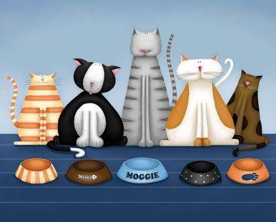 cat art prints:
