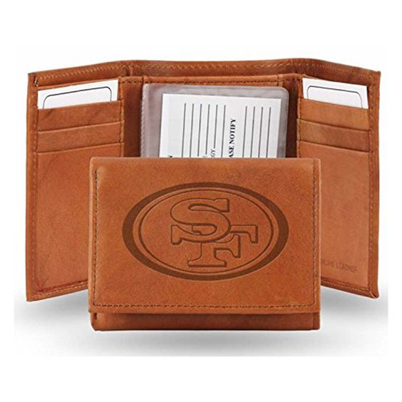 San Francisco 49ers NFL Manmade Leather Tri Fold