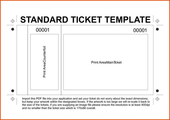 Free Printable Raffle Ticket Template Raffle Ticket Templates