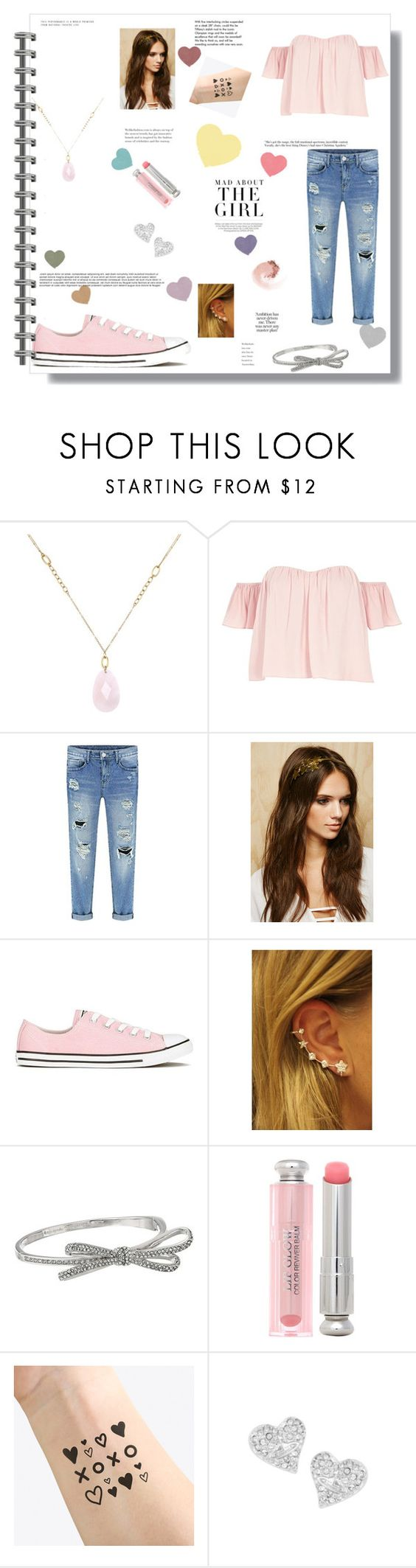 """""""Sweetly in Love"""" by christagnes ❤ liked on Polyvore featuring White House Black Market, River Island, Forever 21, Converse, Kate Spade, Christian Dior, NAVUCKO, Vivienne Westwood, NARS Cosmetics and Kershaw"""