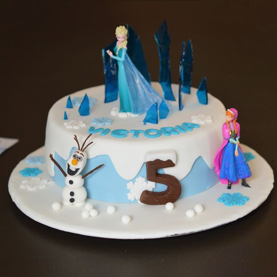 Gâteau reine des neiges, Olaf en pâte à sucre