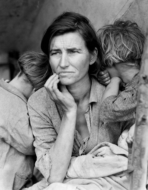 Photo Dorothea Lange, extraite de New Deal Photography / La Photographie du New…