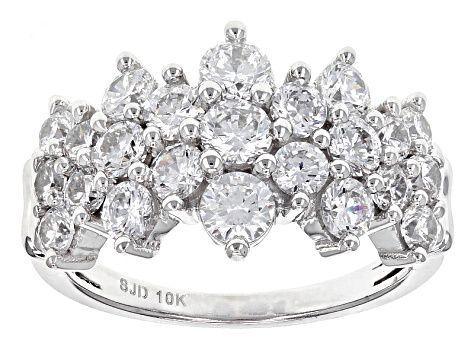 Enjoy Exceptional Value And Unbeatable Prices Explore This White Cubic Zirconia 10k White Gold Ring 4 05ctw From Jtv White Gold Rings Gold Rings Grown Diamond