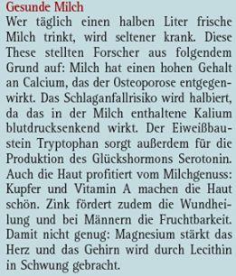 Die MIlch macht's. www.medicom.de