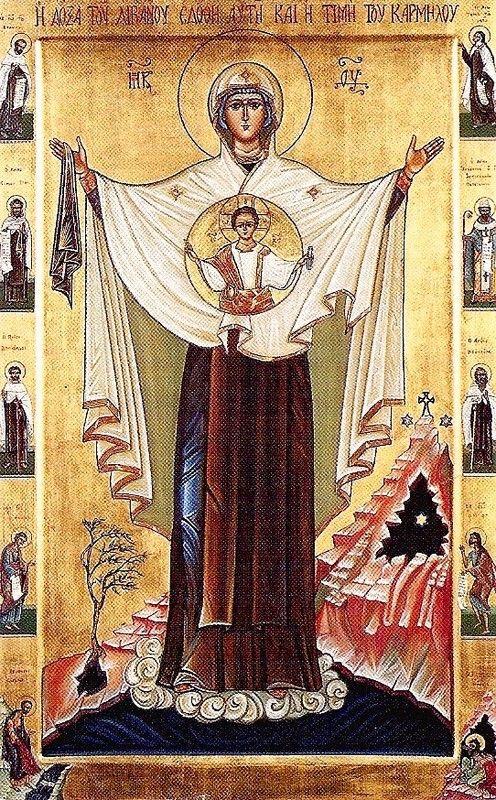 Notre Dame du Mont Carmel - images saintes: