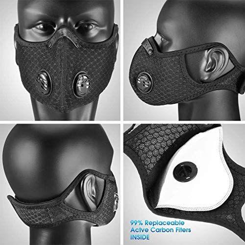 Sport//Outdoor mask - Washable//Reusable 2 breathing valves 1 mask + 1 filter