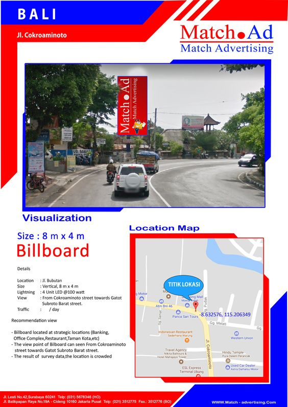 Bali, Jl. Cokroaminoto - Billboard 8x4