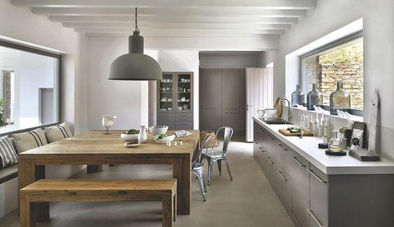 Cuisine Ouverte Sur Salon De Design Italien Moderne | Kitchens, Kitchen  Design And Decoration