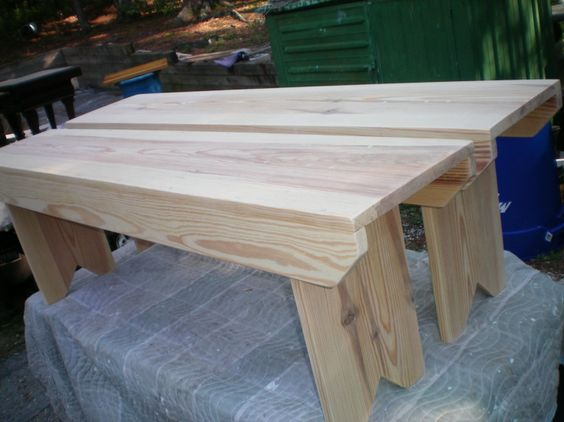 bench's built and ready to stain and finish