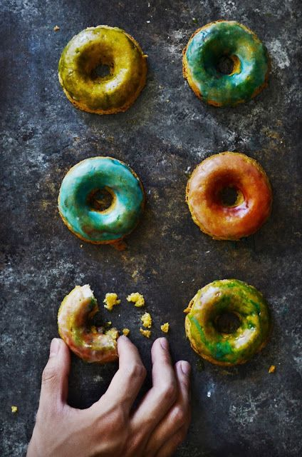 Vegan gluten-free chickpea donuts: