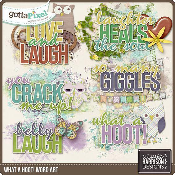 What a Hoot! Word Art :: Gotta Pixel Digital Scrapbook Store by Aimee Harrison $2.99