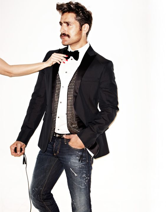 Tuxedo jacket with jeans..the new cool | Mens Fashion | Pinterest