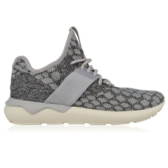 adidas Originals Tubular Runner Prime Knit Trainers ($140) ❤ liked on Polyvore featuring men's fashion, men's shoes, men's sneakers and grey