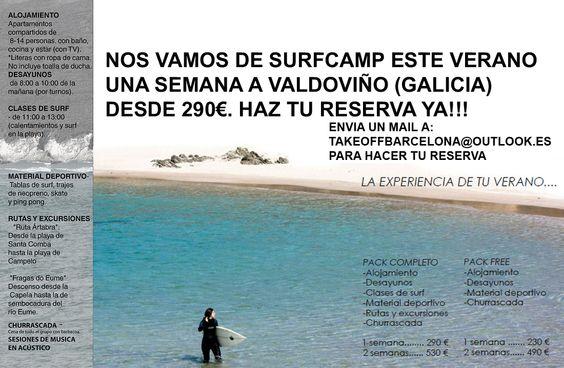 UNA SEMANA DE SURFCAMP EN VALDOVIÑO (GALICIA) EN APARTAMENTO COMPARTIDO POR 290€