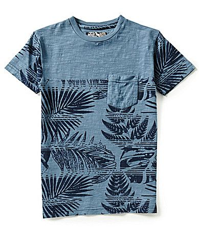 First Wave Big Boys 820 Palm Tree Print Tee #Dillards