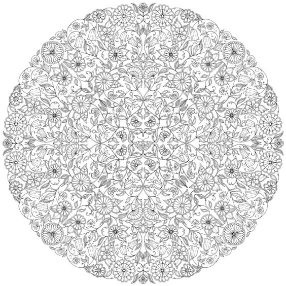 Jardins coloration and mandalas on pinterest for Jardin mandala