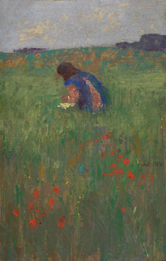 "huariqueje: "" Kind in Wiese (Child in Meadow) - August Macke 1906 Impressionism Musée Franz Marc, Kochel am See Courtesy of Beck & Eggeling, Düsseldorf """