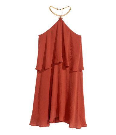 Kleid mit Halsschmuck | Rost | Ladies | H&M DE
