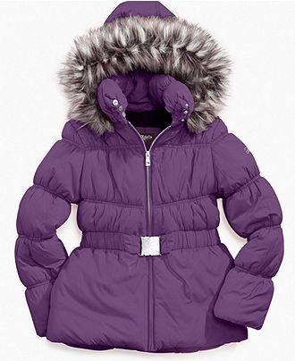 Hawke & Co. Kids Jacket Girls Belted Puffer Coats - Kids SALE