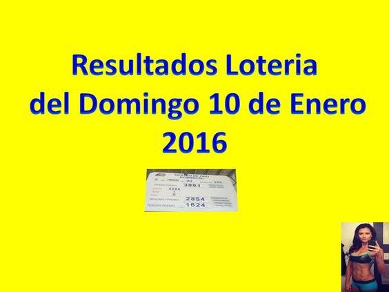 Resultados Sorteo Domingo 10 de Enero 2016 Loteria Nacional de Panama Dominical