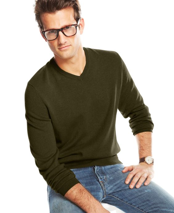 Club Room Cashmere V-Neck Solid Sweater