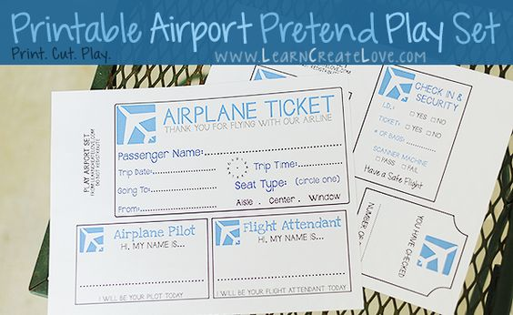 Printable Pretend Play Set: Airport - perfect for some pre ...
