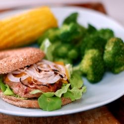 Juicy Grilled Turkey Burgers - No dry hockey puck here! Moist and not crumbly, perfectly seasoned.