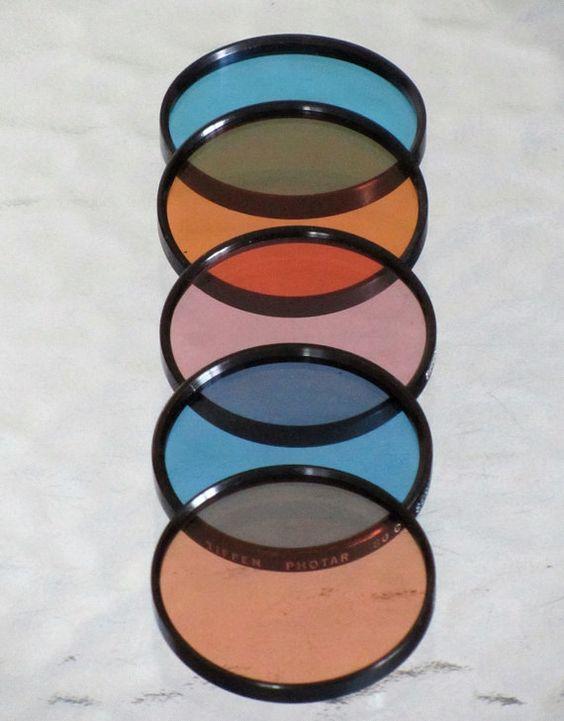 Camera Lens Color Filters Vintage Photography by SaleOfEstates, $27.00