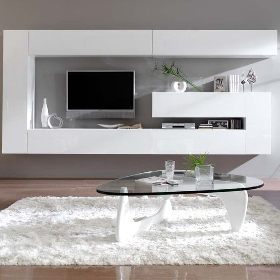 meuble tv mural design dublin atylia idee salon. Black Bedroom Furniture Sets. Home Design Ideas