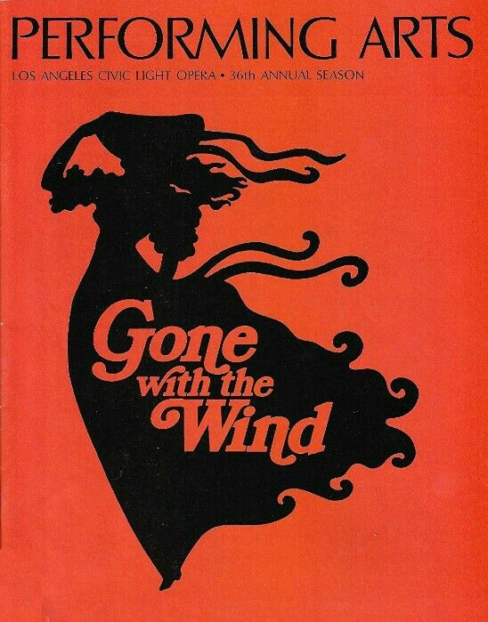 Theatre Programme For The Premiere Los Angeles Tryout Production Of The Harold Rome Horton Foote Musical Performance Art Theatre Programme Gone With The Wind