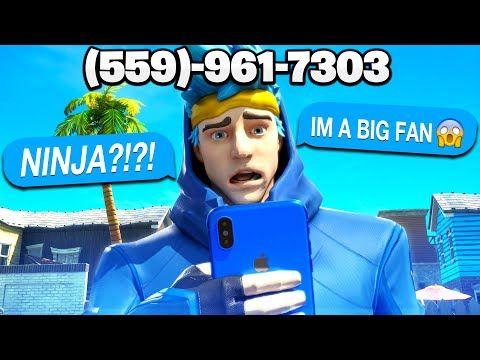 I Put My Phone Number On The Ninja Skin Funny Fortnite Reactions Bazerk Youtube Fortnite Funny Skin