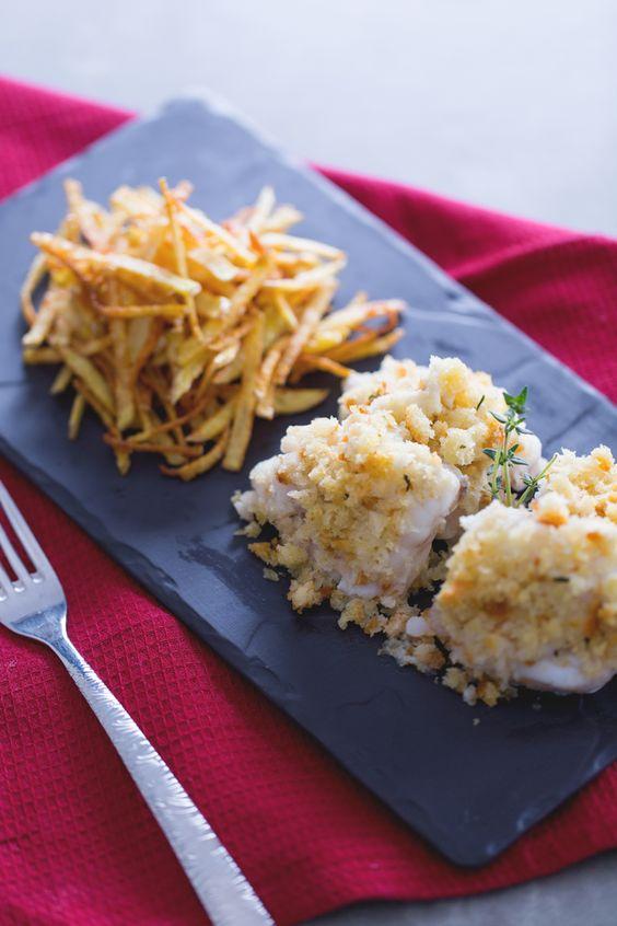 Cosa di rospo con patatine fritte. Scoprite come preparare un secondo di #pesce…
