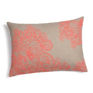 Coussin Bollywood fluo