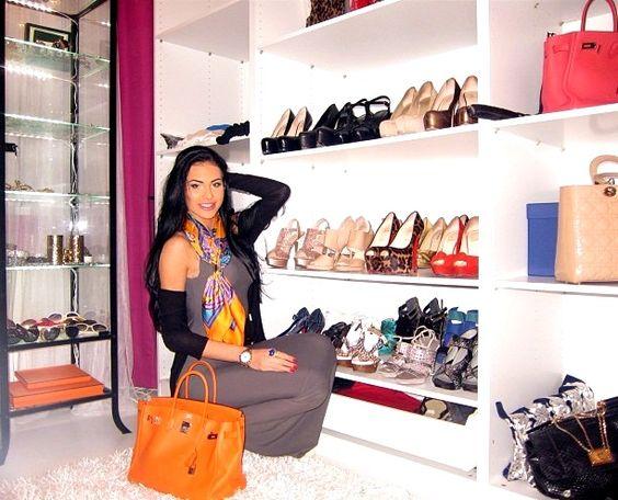 Olesya Malinskaya Celebrity Closets Pinterest Closet