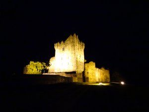 Ross Castle at night,County Kerry,