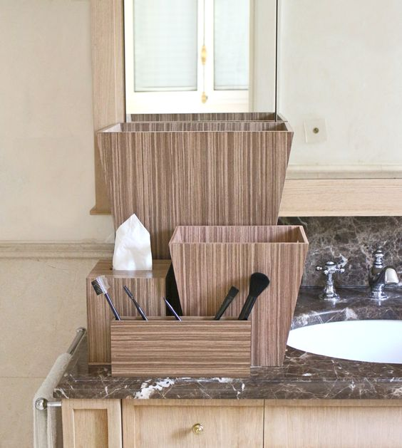 Beautiful Handmade Luxury Bathroom Accessories In Warm Walnut