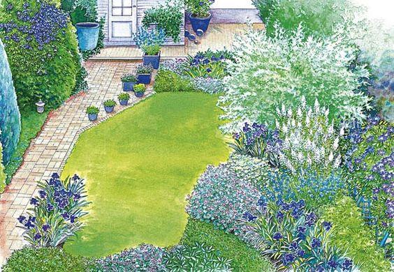 Ideen für einen schmalen Gartenstreifen Schöne gärten, Gärten